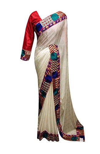 Meine Damen Indischen Bollywood Hochzeit Party Wear Designer Grenze Sari 7006