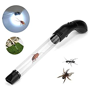 IsEasy Aspire Insect Electric with LED Light Gun Aspira Cimici, Aspirator Insect Manual Insecticide, Aspire Spider Webs