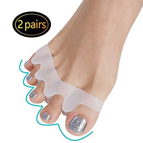 2 Paia gel Toe Separatore, barelle in gel per dita del piede sovrapposte, facile da indossare nelle scarpe, può essere utilizzato in uno strumento di manicure per pedicure