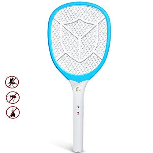 ZPeng Elektrischer Moskito-Mörder, wiederaufladbarer USB-Insektenvernichtungsschläger, eingebaute Taschenlampe, Moskitofliegenklatsche, Insektenbekämpfungs-Insektenbekämpfungs-Moskitomittel