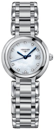 Longines PrimaLuna White Mother of Pearl Dial Stainless Steel Ladies Watch L81104876, Model:, Hand/Wrist Watch Store