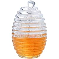 Stir Bar - Tarro de miel con tapa, 265 ml, transparente de alta calidad