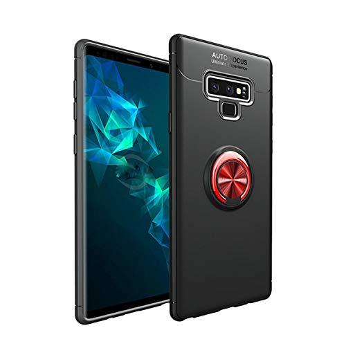 Knlona Silikon Magnetische Schutzhülle Hülle Case Handyhülle Kompatibel für Samsung S9 Rot