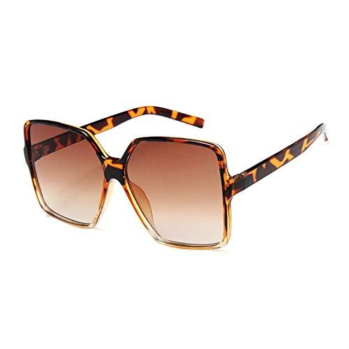 Yuanz Übergroße Champagner Sonnenbrille Frauen Ocean Candy Damen Shades Big Frame Sonnenbrille Weibliche Uv400 Schutz,W