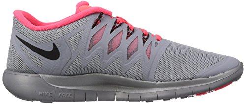 Nike Nike Free 5.0 Flash, Chaussures de running femme Argent (Flct Slvr/Blk-Hypr Pnch-Wlf G)