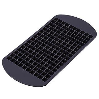 Ms. Hot & Mr. Cool - Eiswürfelform aus flexiblem Silikon für 160 Mini-Eiswürfel - Eisform - Eiswürfelschale - Bonbonform - Pralinenform grau-braun