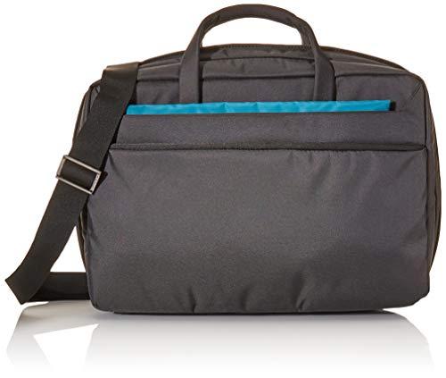 Tucano WorkOut3 Pop-Up mit vergrößerbarem Laptop-Tasche Schultertasche Aktentasche für MacBook Pro 15 Zoll und Ultrabook, iPad, Tablet wasser- und schmutzabweisend mit Anti-Schock-System - Schwarz Tucano Laptop