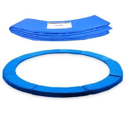 ULTRAPOWER SPORTS Federabdeckung Randschutz Randabdeckung für Trampolin 244cm - 305cm - 366cm Rahmenpolsterung Pink/Grün/Farbige PVC - UV beständig (Blau, 366cm - 8 Stangen)
