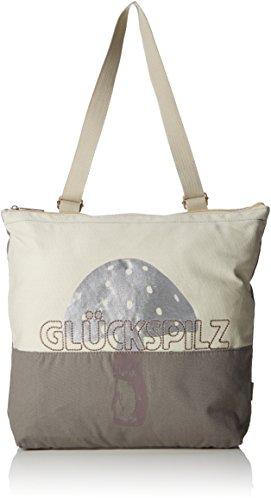 Adelheid Damen Glückspilz Rucksacktasche Rucksackhandtasche, Beige (Beige (Natur)), 10 x 43 x 38 cm
