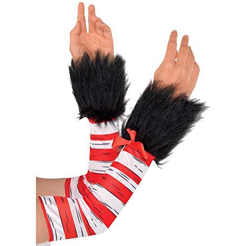 Kostüm Lustige Lehrer Für - Kostüme USA Katze im Hut Armstulpen für Damen, Dr. Seuss Kostümzubehör Einheitsgröße