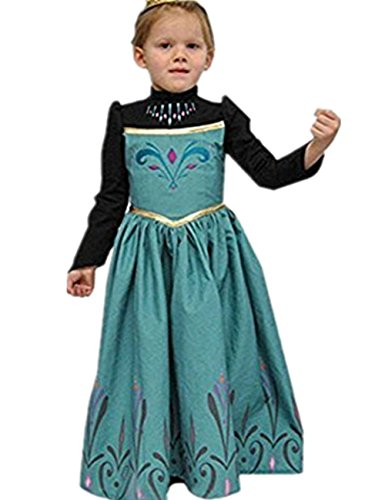 Imagen de ninimour disfraz vesitdo de princesa hielo para las niñas 130, ana#1