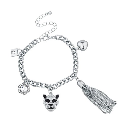 lux-accesorios-plateada-bling-lion-animal-pulsera