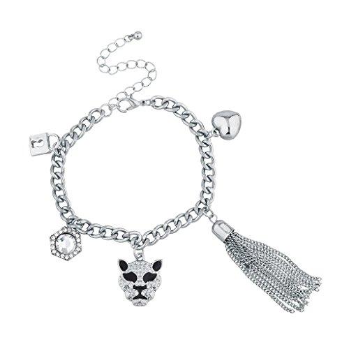 lux-accessoires-silvertone-bling-lion-animal-charme-bracelet