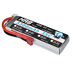 Hrb 3s 3300mah 11.1v 35c-70c With T Plug Rc Lipo Battery For Helicopter Airplane Traxxas Car Rc Airplane Rc Helicopter Rc Car Rc Truck Rc Boat Quadcopter