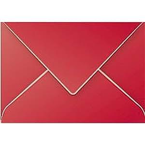 Clairefontaine 5580C Pollen Paquet de 20 Enveloppes 7,5x10 cm, Rouge Groseille
