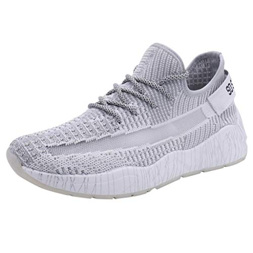Xmiral Uomo Scarpe Fitness Scarpe Ginnastica Running Sneakers Scarpe Running Sportive Sneakers Atletico Palestra Scarpe Sport Scarpe Trail Running Scarpe Moda Sportive 43 Grigio