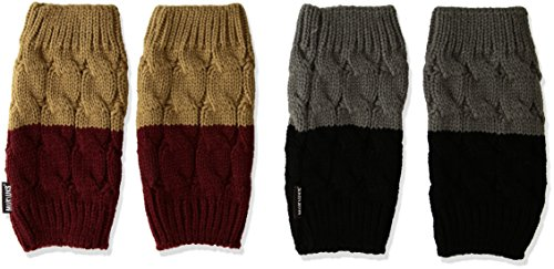 Muk Luks Women's Cable Boot Toppers, Multi, One Size fits Most