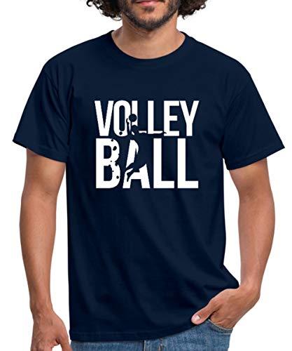 Beach Volleyball Männer T-Shirt, L, Navy
