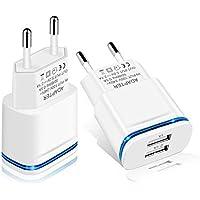 LUOATIP Caricatore USB da Muro, 2-Pack 2.1A 5V Caricabatterie Alimentatore Presa USB 2 Porte, Spina Compatibile con…