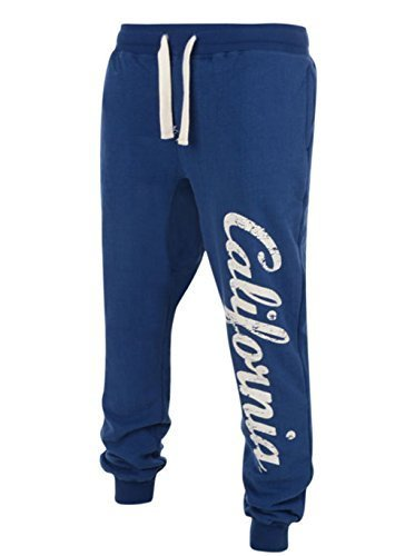 Mens American Freshman University Of California Berkley Bears Jogging Tracksuit Bottoms Casual Fleece Sweat Pant Cuffed Hem Joggers. Official University Apparel. Style - Turpins