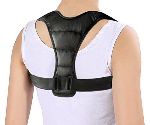 Only1MILLION Posture Corrector Women Men - Universal Adjustable Comfortable High Back Support Posture Brace(Black)