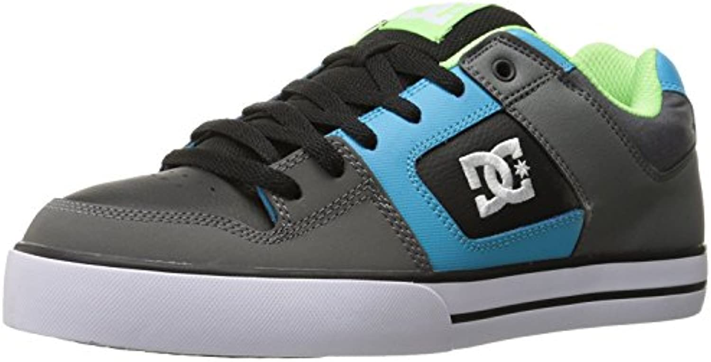 DC Men's Pure Action Sport Sneaker, Grey/Green/Blue, 38.5 D(M) EU/5.5 D(M) UK