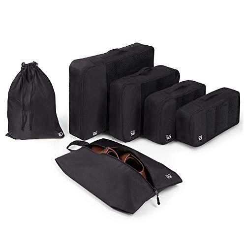 Blumtal - Set de 4 + 2 Bolsas Para Viaje Negras