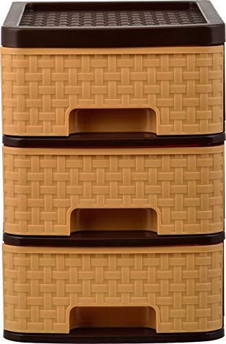 AAROHI13 TUCKINS 3 Drawer Light Brown Small