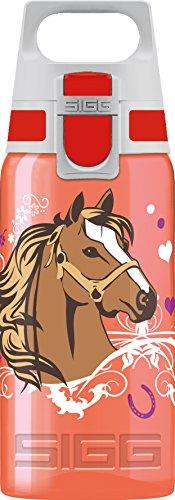SIGG VIVA ONE Horses Kinder Trinkflasche (0.5l), schadstofffreie Kinderflasche mit auslaufsicherem Deckel, einhändig bedienbare Trinkflasche für Kinder