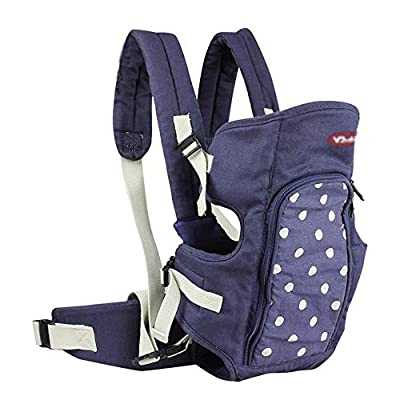 WYNZYYEBD Baby Carrier Wrap,Baby Carriers Front and Back,Suitable for Babies from 3 Months to 2 Years Old, Weight Range: 0-13kg,Blue, Gray (Color : Blue)