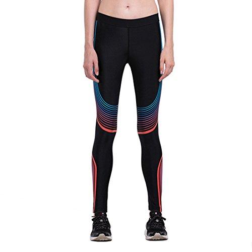 qutool Pantalon de yoga pour femme sport fitness Leggings de Course à Pied Collants pour Femme Rouge