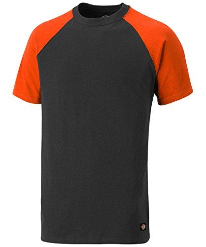 Dickies T-Shirt Two Tone SH2007, Größen, optimale Passform, Passend zur Everyday 24/7 Kollektion 2017 (XL, Grau/Orange)