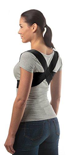 ®aHeal - (Taille 4) - Correcteur de posture orthopédique médical - Meilleure solution pour les employés de bureau / enfants / étudiants - Soutien postural et soulagement des maux de dos - Pour les femmes et l'homme - Qualité européenne / 100% de garantie pour le remboursement - Noir