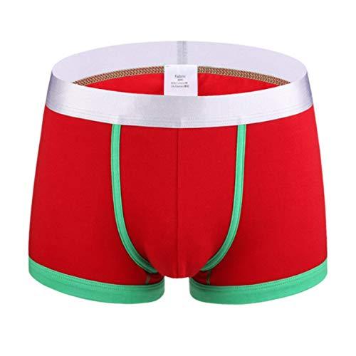 B-commerce Men Mid-Taille Unterwäsche Herren Atmungsaktive Soft Splice Farbe Loose Fit Klassische Slips Normale Beine Beine Unterhose