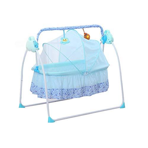 SHIOUCY 3 Farbe Babybett elektrische Baby Schaukel Baby Cradle Rocker Musik Timer Babywippen & -schaukeln (Blau)