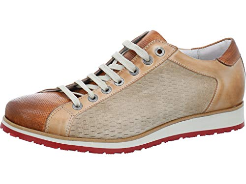 Nicola Benson Eleganter Sneaker Größe 42 EU Braun (braun-beige) (Benson Sneaker)