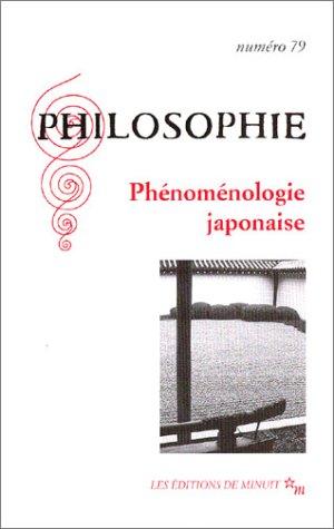 Philosophie, numéro 79 : Phénoménologie japonaise