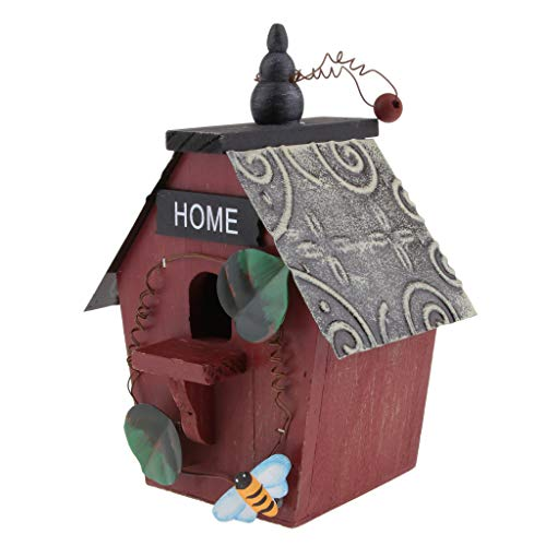 Fenteer Boîte Nid d'oiseaux Animaux Campagne Bird House Nature écologique - Couleur A