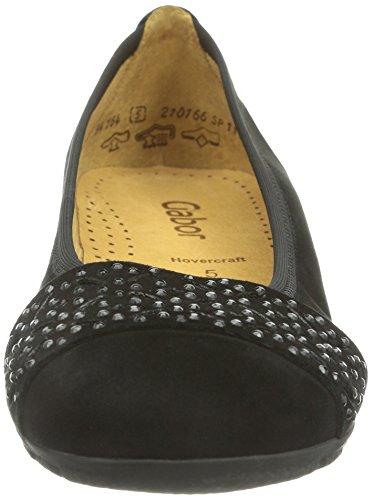 Gabor Shoes 94.164.17 Damen Geschlossene Ballerinas Schwarz (Schwarz)