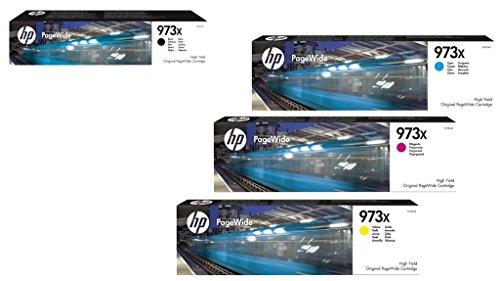 Hewlett Packard HP Original 973X cartuchos de tinta 4er Set negro, cyan, magenta, amarillo