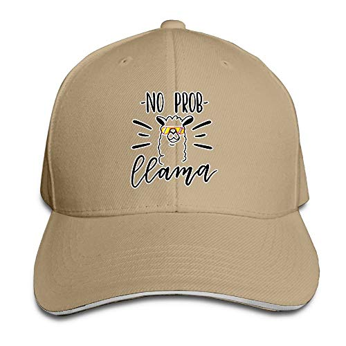 KS-QON Not Prob Llama Fashion Adjustable Unisex Sandwich Baseball Cap/Hat Red Bmw-sandwich-cap