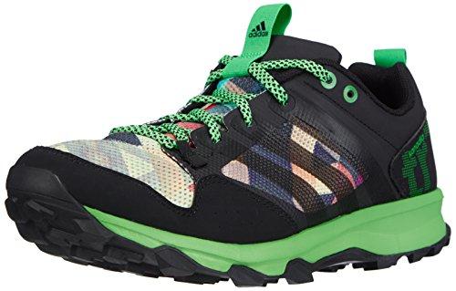 Adidas  Kanadia 7 Trail - Zapatillas de deporte para hombre, color core black/flash green s15/core black, talla 42 2/3