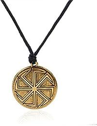 08dfa031712 Amuleto Slavi Wicca Sigil talismano Kolovrat antico simbolo ciondolo Sun  Wheel collane gioielli