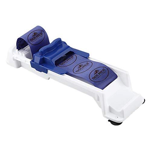 FinukGo Gemüse-Fleisch-Rollen-Werkzeug-Rollen-Sushi-Hersteller-Rollen-Kochgeschirr-Werkzeug-innovatives Küchen-Gemüse-Rollen-Maschine-Weiß mit Blau