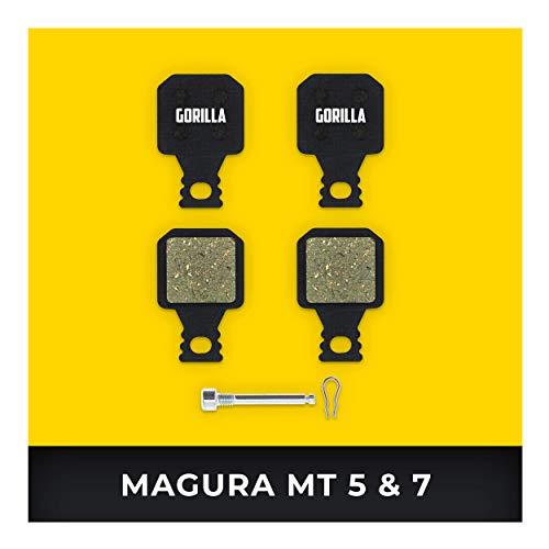 Magura Bremsbeläge MT-5 MT-7 für Fahrrad Scheibenbremse I Hohe Bremsleistung I Langlebiger & Passgenauer Bremsbelag I Organischer Belag
