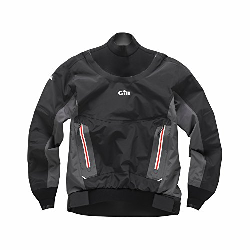 Gill KB1 Racer Dry Top - Graphite M (Leash Attachment)