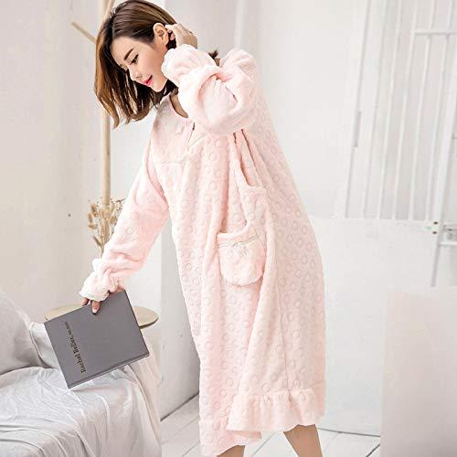 Yshuiyi Pyjamas Umstandsmode Frauen Pyjamas Herbst Und Winter Dicke Warme Flanell Kleidung Nach Der Geburt Fütterung Kleidung Nach ()