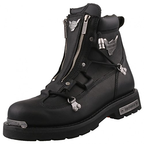Harley Davidson Biker Boots D91680 luce freno Engineerstiefel schwarz / nero, Harley Schuhe Herren Größen:46