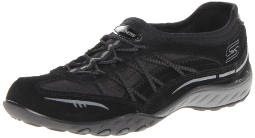 Skechers, Scarpe stringate donna Black
