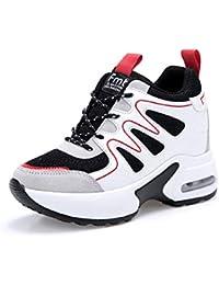 ebf89c2cea29 AONEGOLD Basket Femme Compensee Chaussure de Sport Gym Fitness Sneakers Basses  Compensées Talon de ...